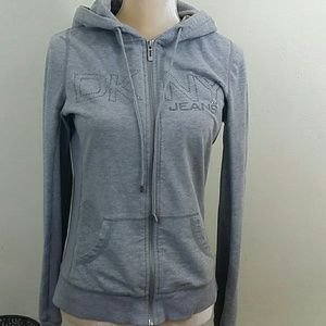 Dkny zip up sweater